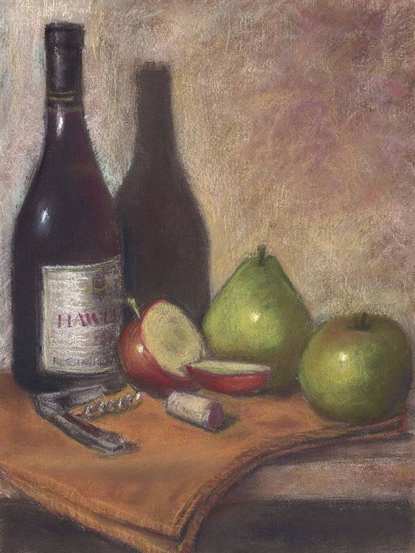 Wine Art Print featuring the painting Hawley Wine Tasting by Ellen Minter