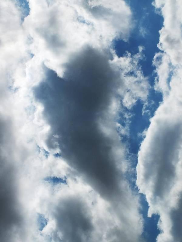 Sky Art Print featuring the photograph Heart I by Anna Villarreal Garbis