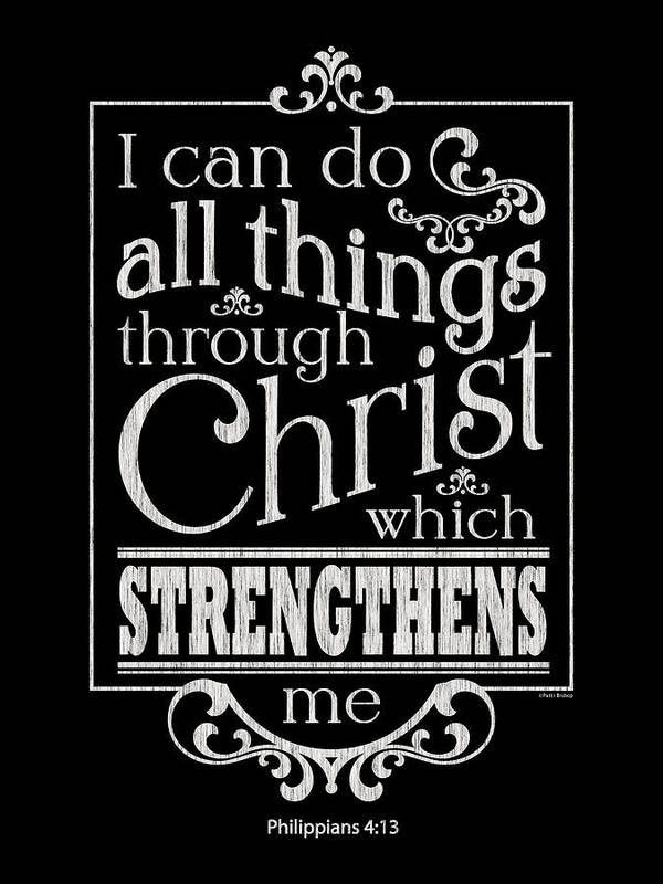 Philippians 413 Art Print Featuring The Painting I Can Do All Things Through Christ