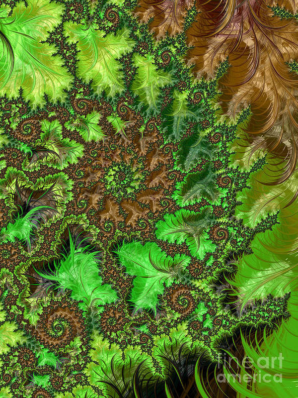 Abstract Print featuring the digital art In The Jungle by Heidi Smith