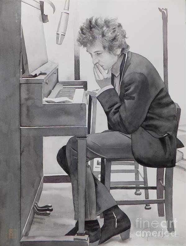 Watercolor Art Print featuring the painting In The Studio by Robert Hooper