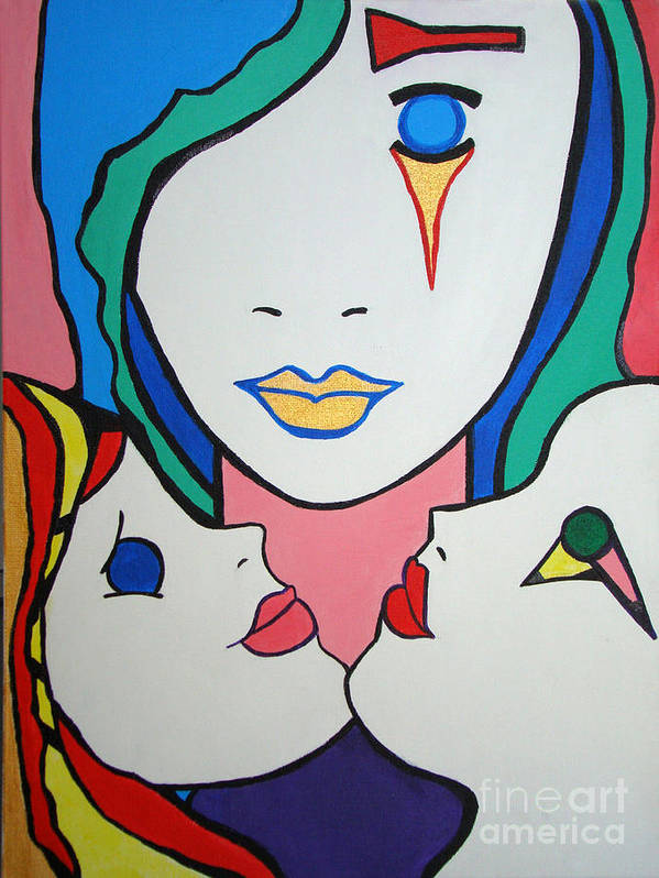 Pop-art Art Print featuring the painting Innocence by Silvana Abel