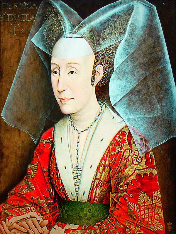 Avantgarde Art Print featuring the photograph Isabella Of Portugal 1397-1471 by Li  van Saathoff