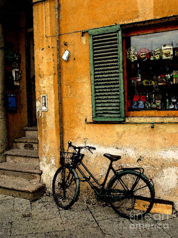 Italy Art Print featuring the photograph Italian Sidewalk by Nancy Bradley