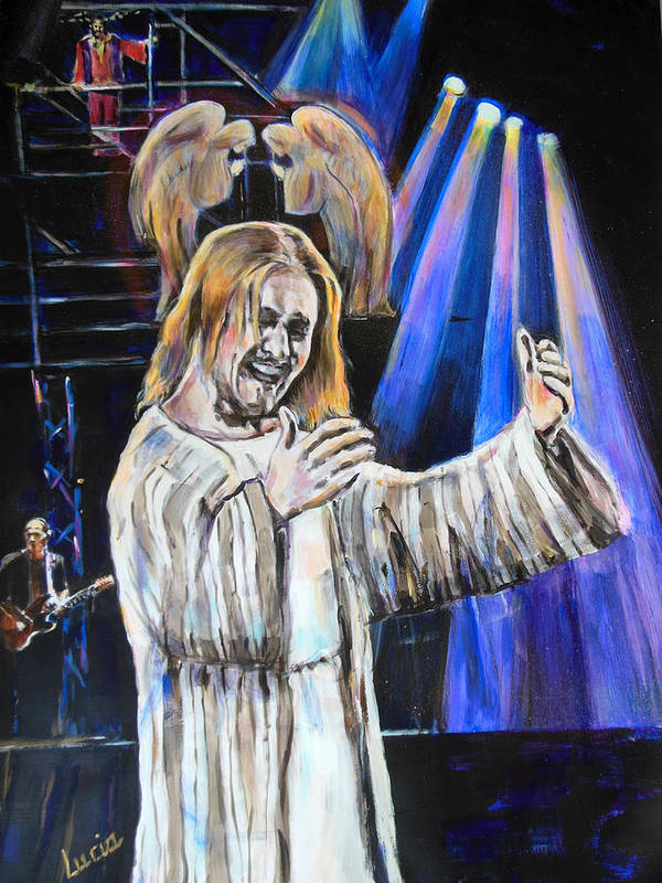 Jesus Christ Superstar Art Print featuring the painting Jcs In Rome II by Lucia Hoogervorst