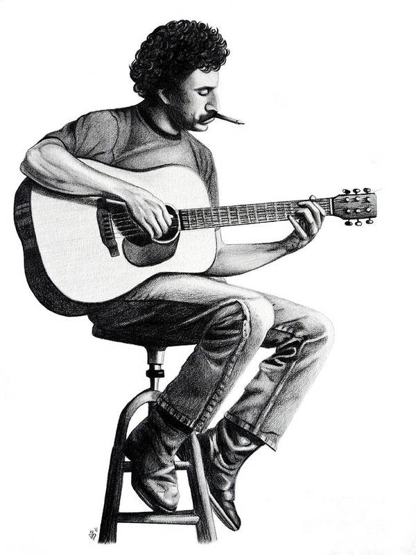 Drawing Art Print featuring the drawing Jim Croce by Danielle R T Haney