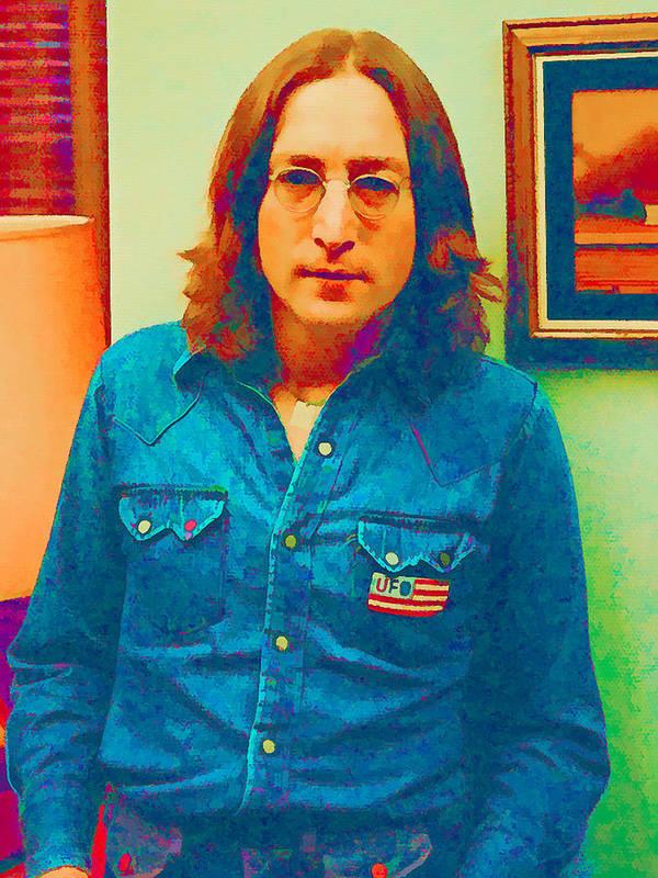 John Lennon Art Print featuring the digital art John Lennon 1975 by William Jobes