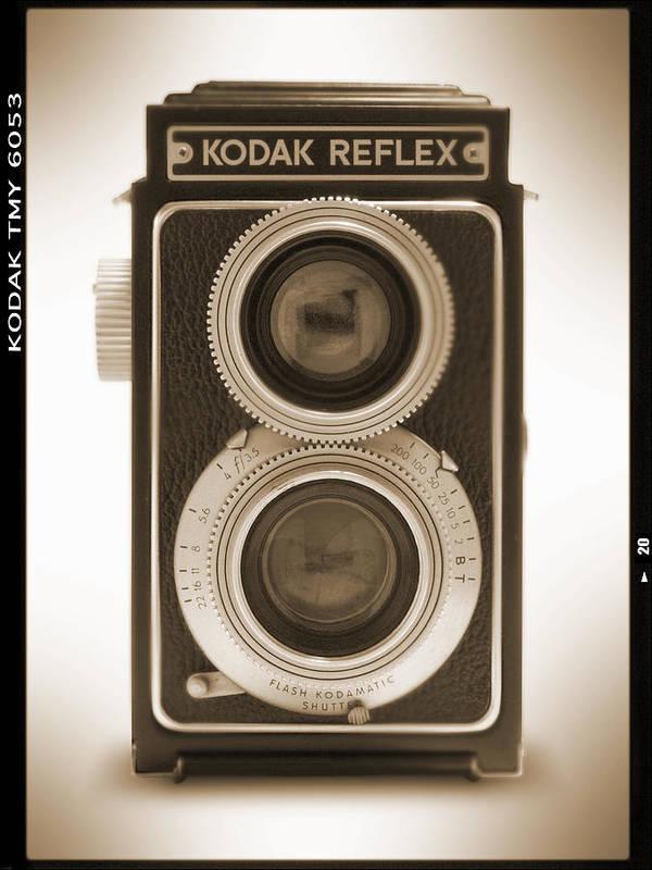 Classic Reflex Camera Art Print featuring the photograph Kodak Reflex Camera by Mike McGlothlen