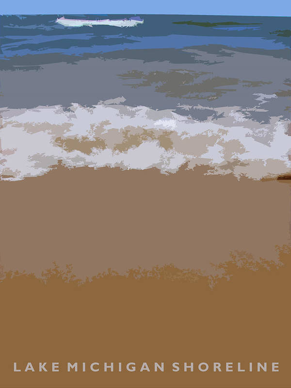 Beach Art Print featuring the photograph Lake Michigan Shoreline by Michelle Calkins