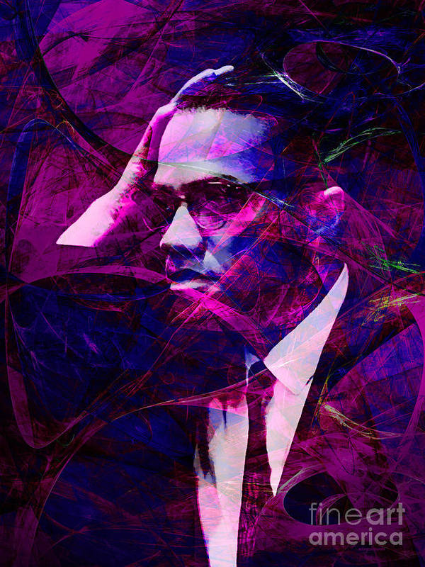 Celebrity Print featuring the photograph Malcolm X 20140105m88 by Wingsdomain Art and Photography