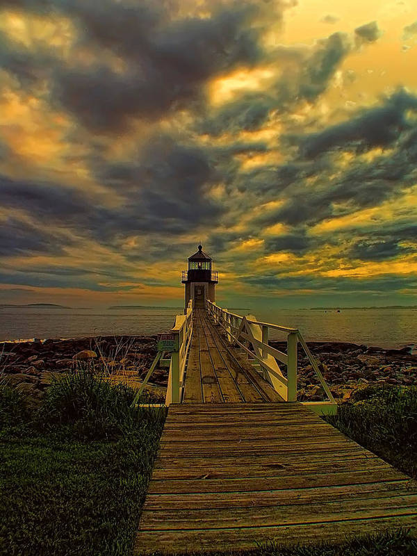 Lighthouse Art Print featuring the photograph Marshall Point Light by Carolyn Fletcher
