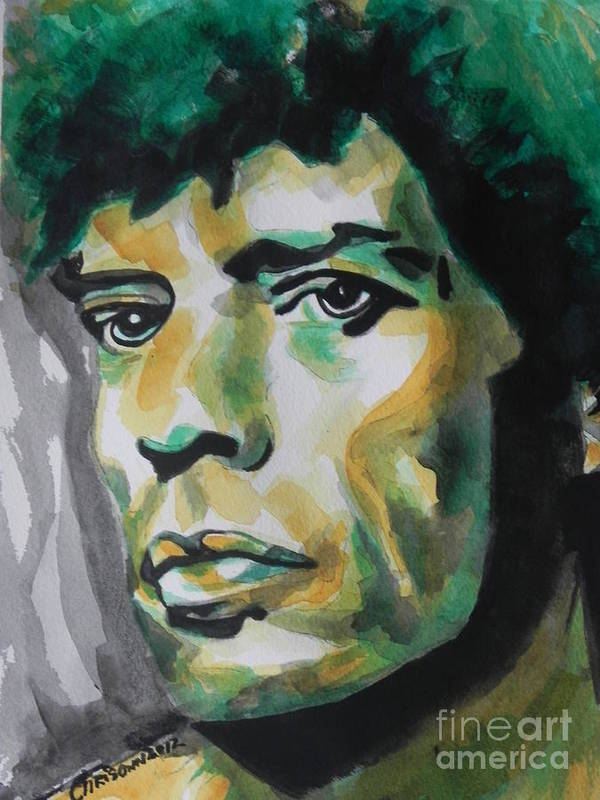 Watercolor Painting Art Print featuring the painting Mick Jagger by Chrisann Ellis