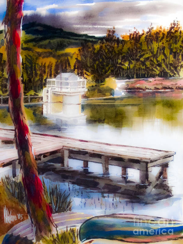 Misty Dream Art Print featuring the painting Misty Dream by Kip DeVore