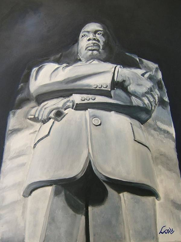 Dr. Martin Luther King Jr. Art Print featuring the painting Monumental King by Joseph Love