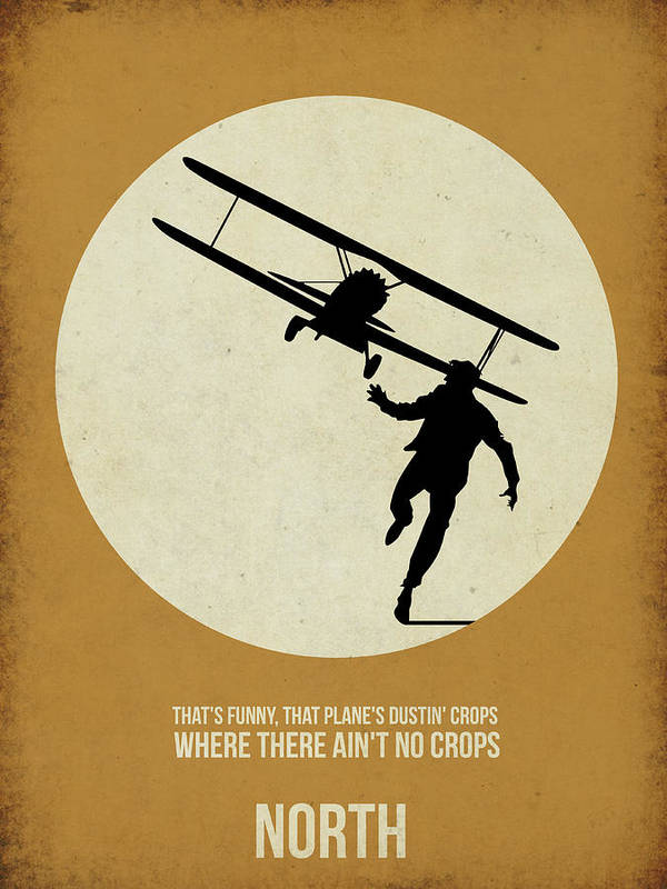 Art Print featuring the painting North By Northwest Poster by Naxart Studio