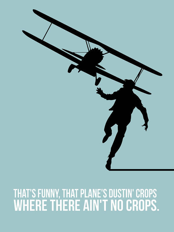 North By Northwest Print featuring the digital art North Poster 3 by Naxart Studio