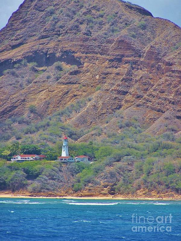 Oahu Lighthouse Art Print featuring the photograph Oahu Lighthouse by Brigitte Emme