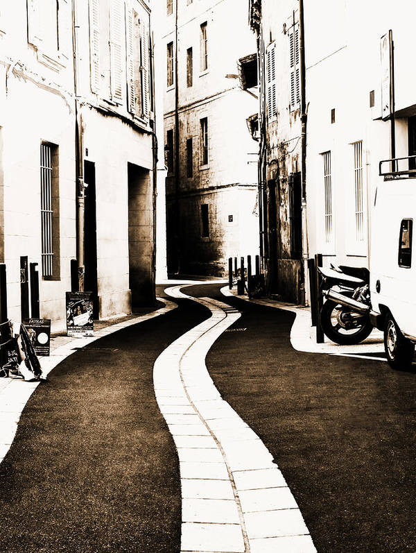 Urban Art Print featuring the photograph Old Town Streams by Yevgeni Kacnelson