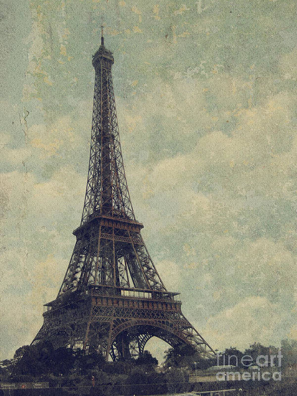 Paris Art Print featuring the digital art Paris by Jelena Jovanovic