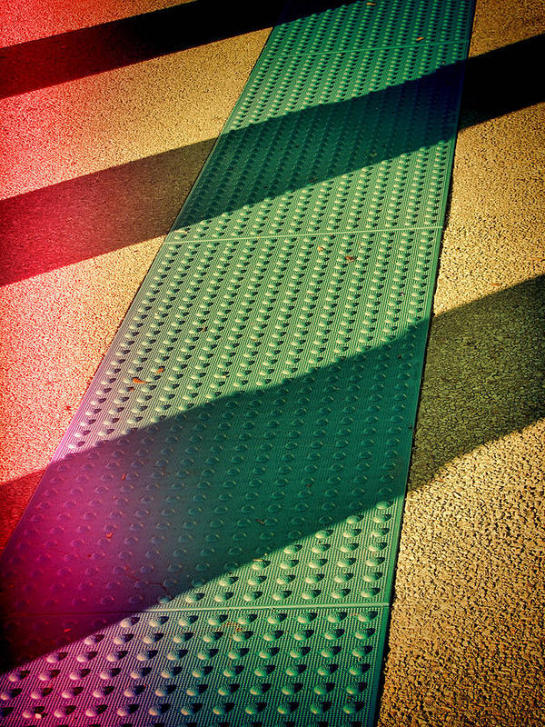 Urban Art Print featuring the photograph Path Of Shadows by Wendy J St Christopher