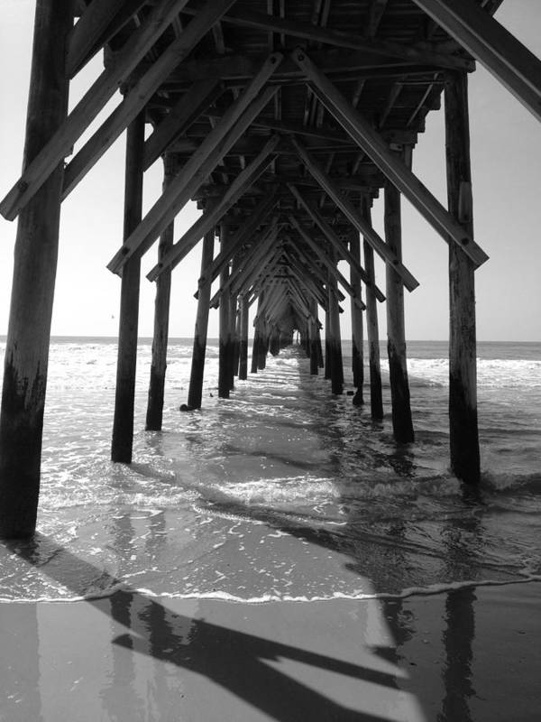 Bier Art Print featuring the photograph Pier Path by BLISS LIVING Photography CL Gifford