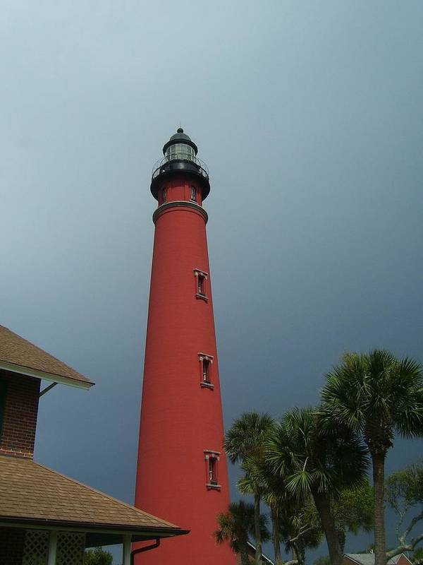 Ponce De Leon Inlet Light Art Print featuring the photograph Ponce De Leon Inlet Light 2 by Cathy Lindsey