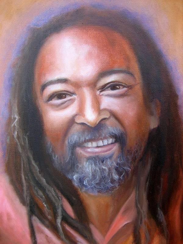 Portrait Of Mooji Art Print