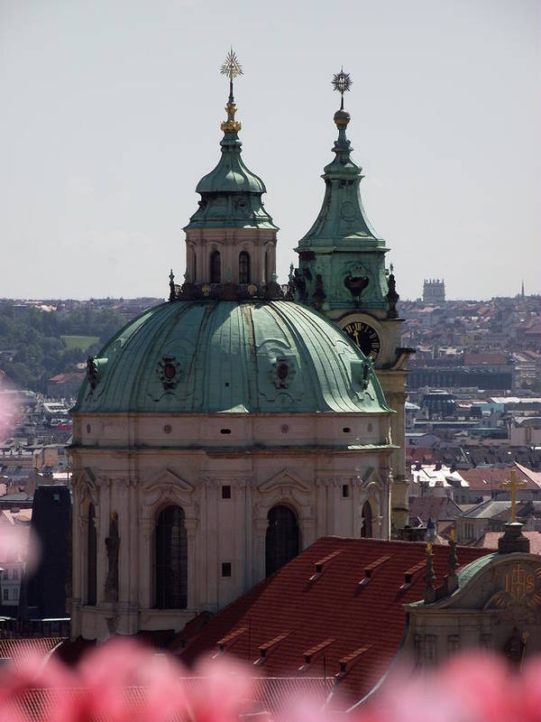Prague Art Print featuring the photograph Prague With Pink by Daragh Kirke