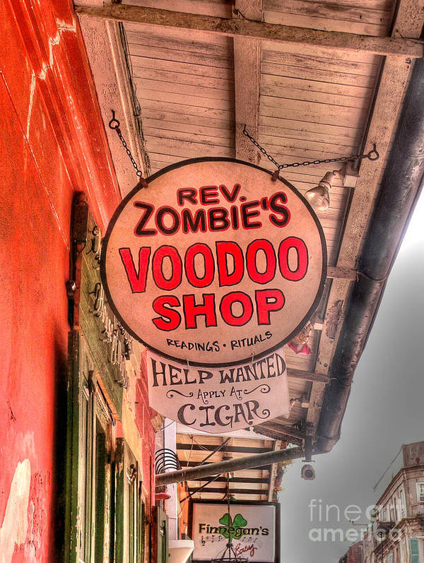 Voodoo Shop Print featuring the photograph Rev. Zombie's by David Bearden
