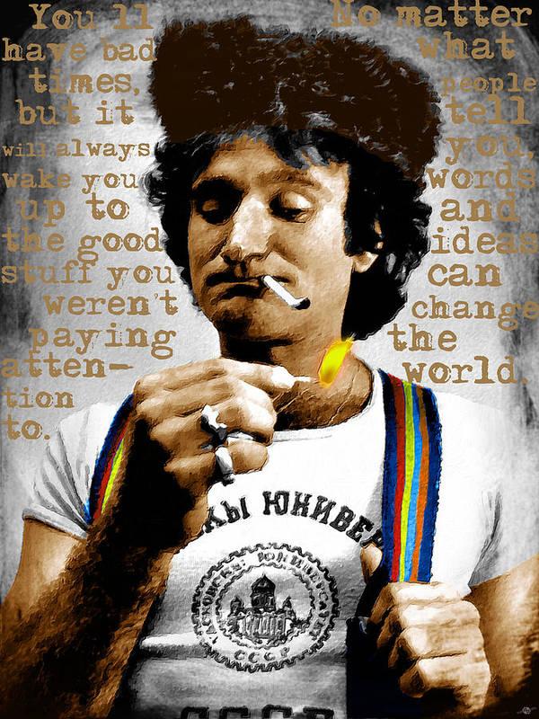 Robin Williams and Quotes 2 by Tony Rubino