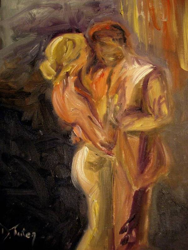 Dance Print featuring the painting Romance by Donna Tuten