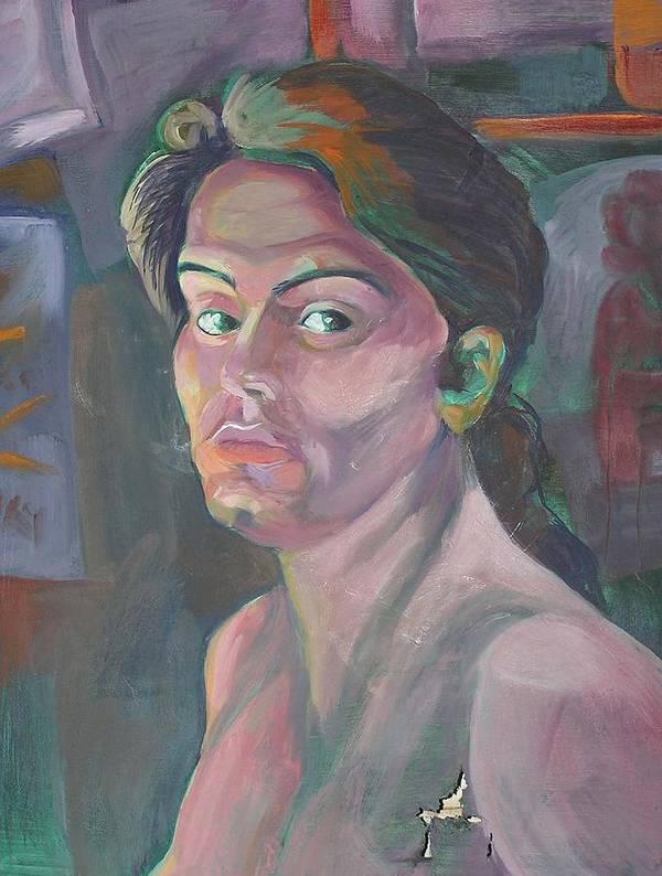 Art Print featuring the painting Self Portrait by Julie Orsini Shakher