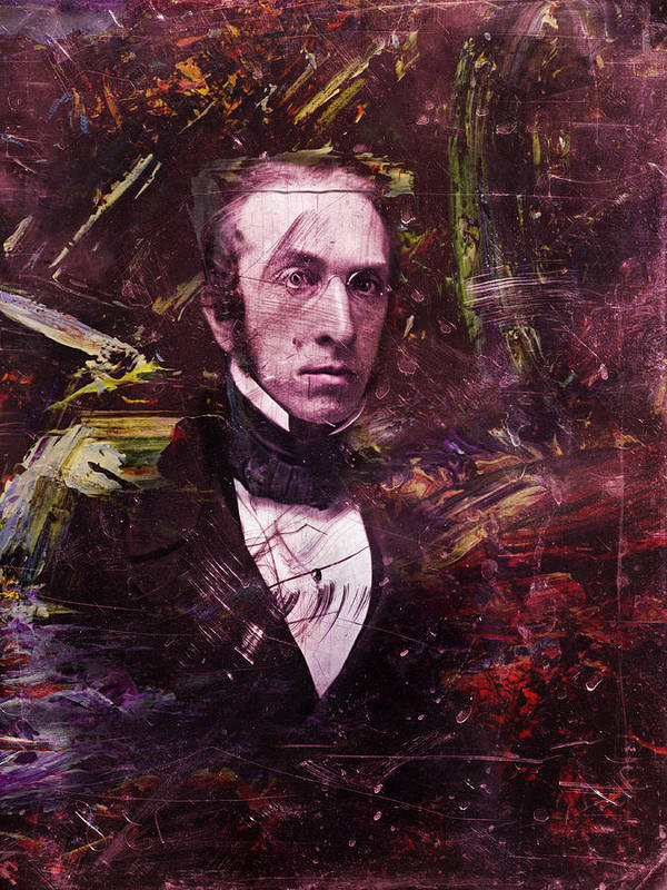 Historical Figure Art Print featuring the painting Serious Fellow 1 by James W Johnson