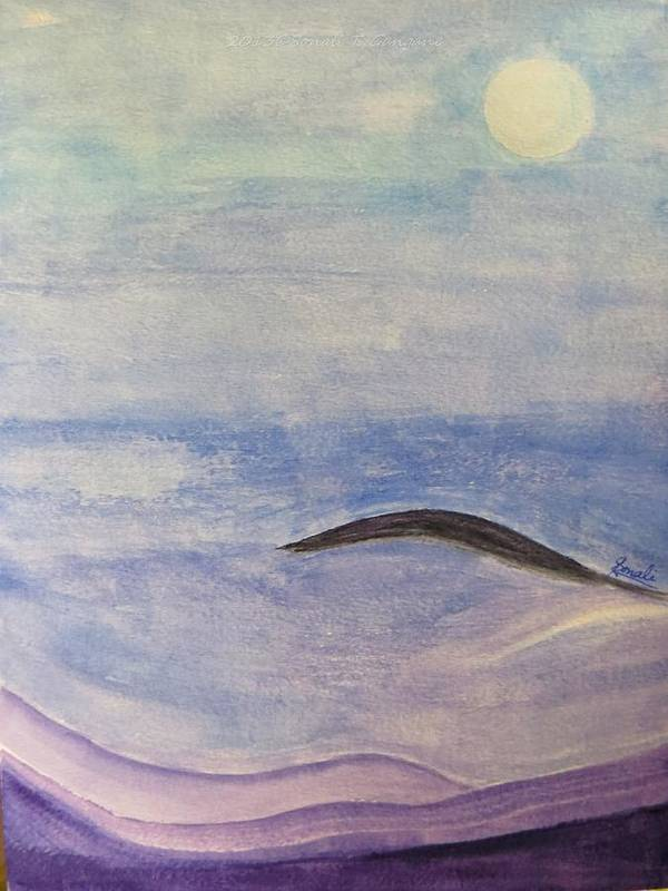 Silver Moon Art Print featuring the painting Silver Moon by Sonali Gangane