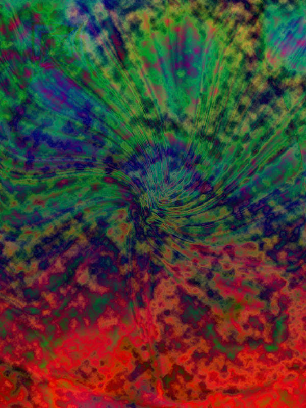 Nature Art Print featuring the digital art Smoke by Jimi Bush