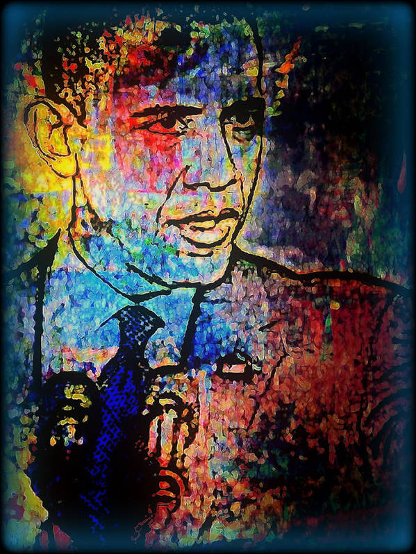 Politicians Art Print featuring the mixed media Still The One by Wendie Busig-Kohn