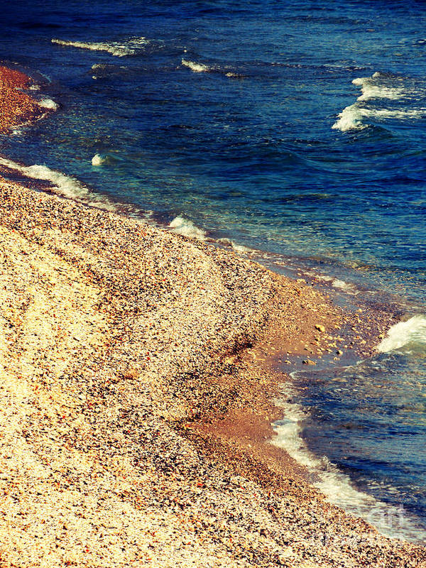 Beach Art Print featuring the photograph Stone And Water by Gabriela Insuratelu