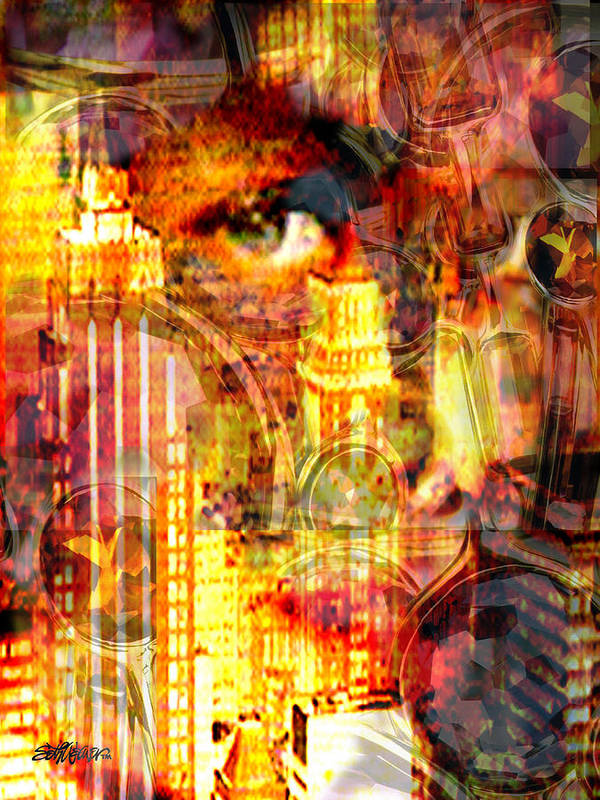Big City Art Print featuring the photograph Streetwalker by Seth Weaver