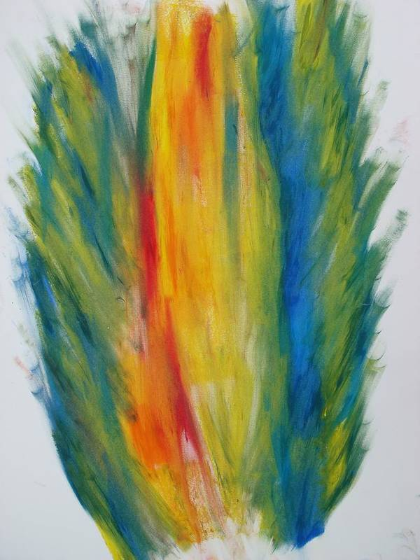 Oil Art Print featuring the digital art Surround Flame by Martin Fried MD