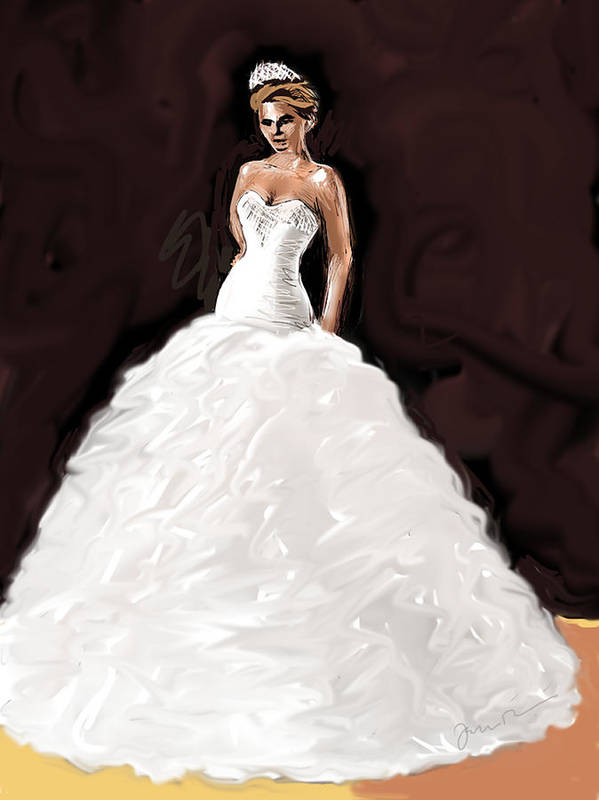 Bride Art Print featuring the painting The Bride by Jean Pacheco Ravinski