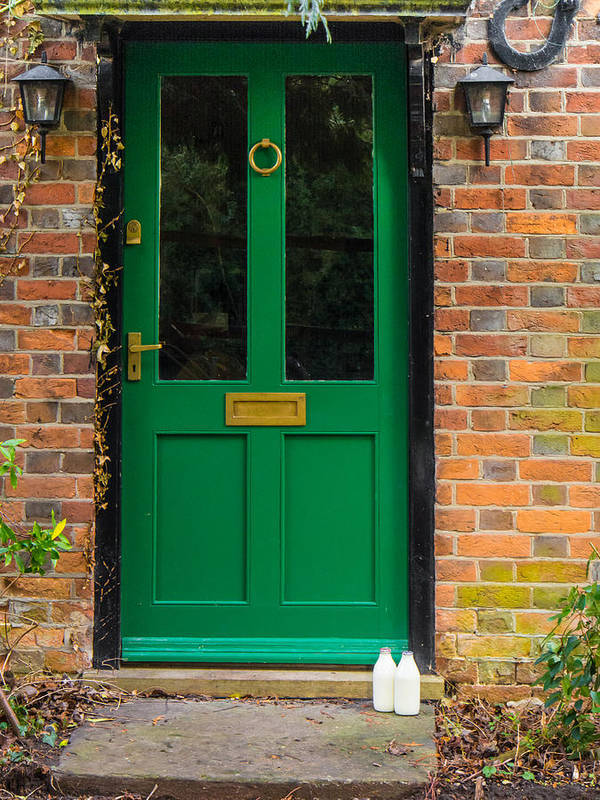 Berkshire Art Print featuring the photograph The Green Door by Mark Llewellyn