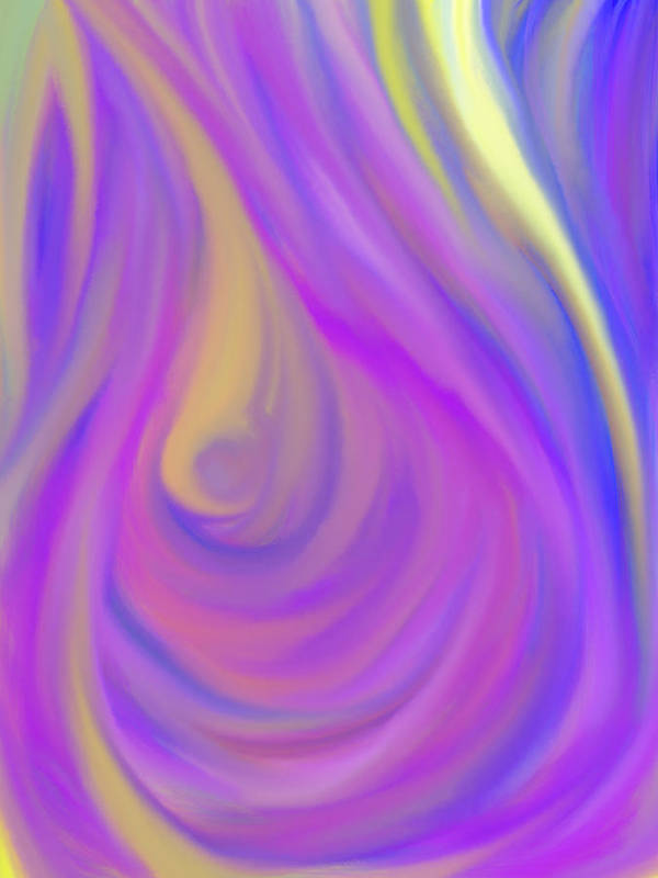 Daina Art Print featuring the painting The Light Of The Feminine Ray by Daina White