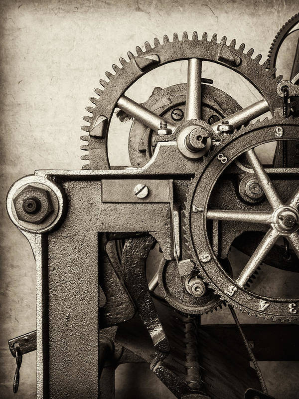 Clock Art Print featuring the photograph The Machine by Martin Bergsma