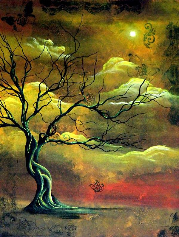 Angieclementine Art Print featuring the painting The Memory Tree by Angie Phillips