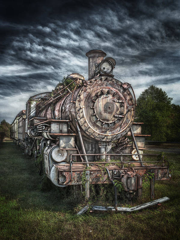 Train Art Print featuring the photograph The Old Depot Train by Brenda Bryant
