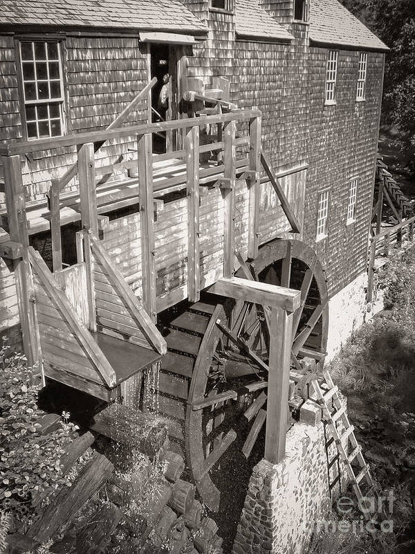 Old Print featuring the photograph The Old Saw Mill by Edward Fielding