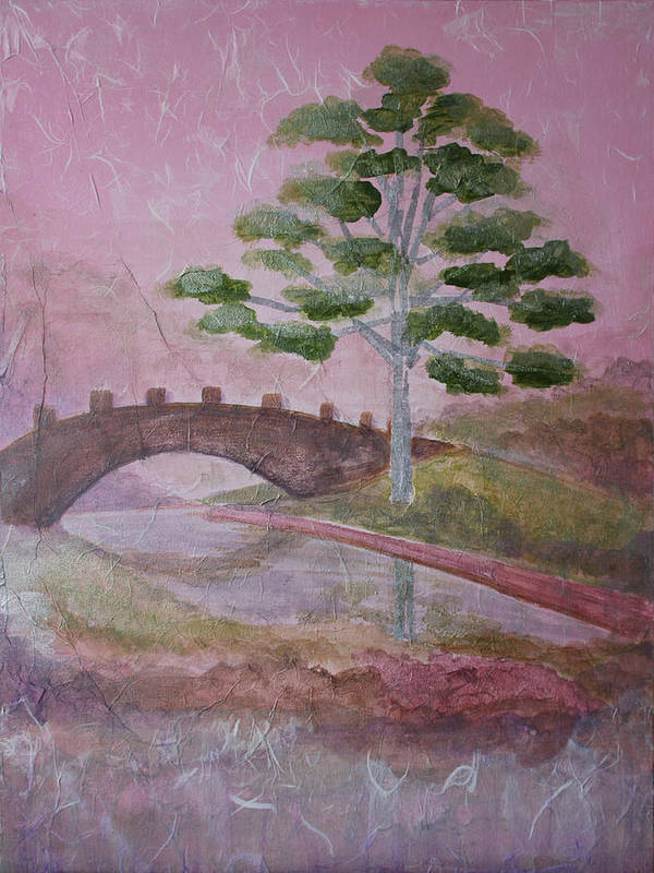 Tree Art Print featuring the painting The Silver Tree by Catherine Sprague