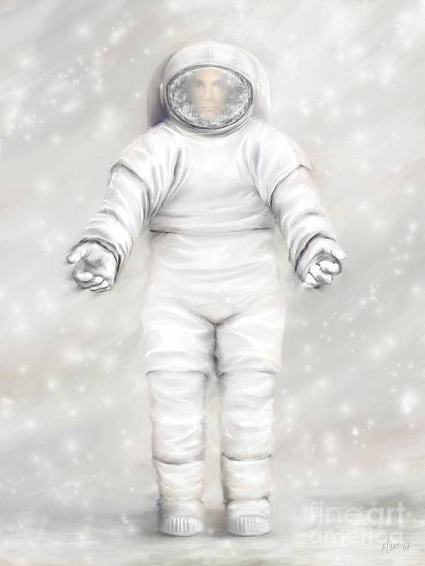 White Astronaut Art Print featuring the painting The White Astronaut by Tharsis Artworks
