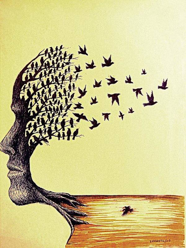 Ideals Art Print featuring the mixed media Tree Of Dreams by Paulo Zerbato
