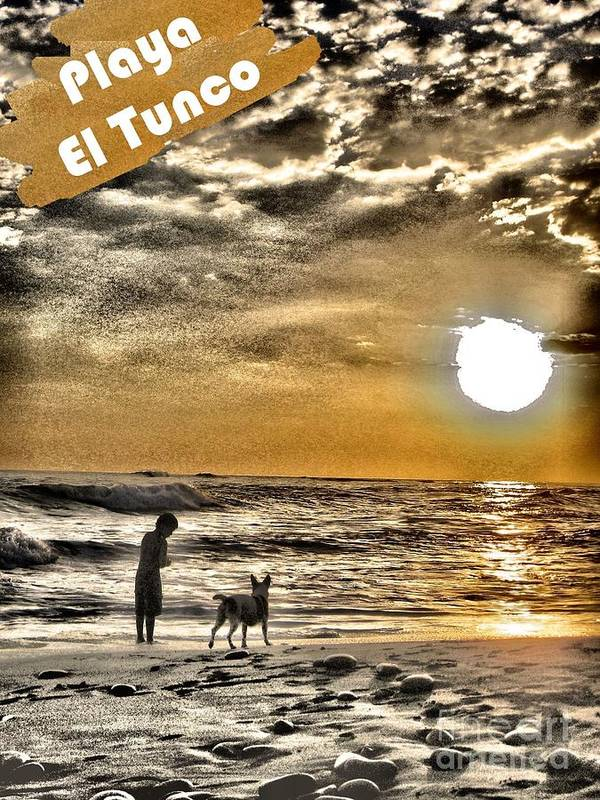 El Salvador Art Print featuring the photograph Tunco Card My Mate D by Stav Stavit Zagron